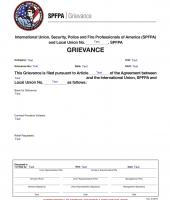 SPFPA Grievance Form