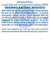 SPFPA– Weingarten Rights