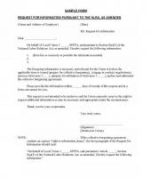 SPFPA Request for Information SAMPLE FORM