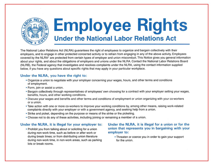 Employee rights - NLRA