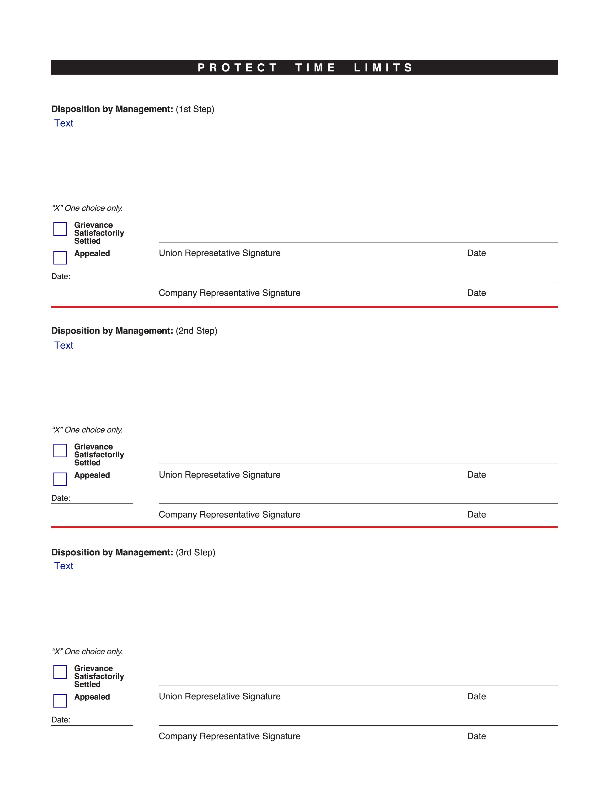 SPFPA– Grievance Form – Editable